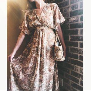 Boho Chic Paisley Maxi Dress